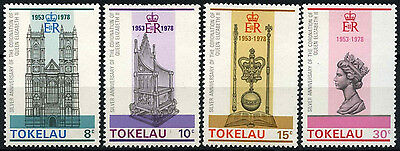 Tokelau 1978 SG#61-64 Coronation 25th Anniv MNH Set #D49857