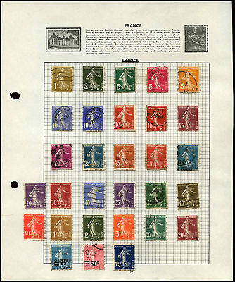 France Sowers Album Page Of Stamps #V4670