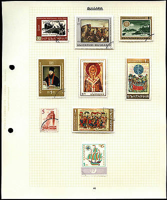 Bulgaria Album Page Of Stamps #V4615