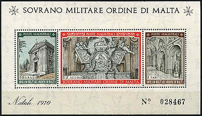 Souvereign Military Order Of Malta 1970 Christmas MNH M/S #D49471