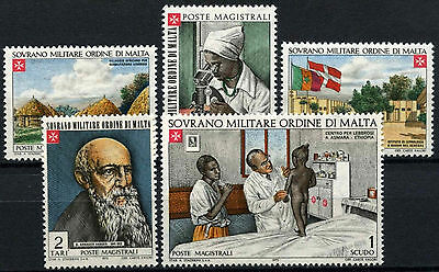 Souvereign Military Order Of Malta 1973 Fight Against Lepra MNH Set #D49482