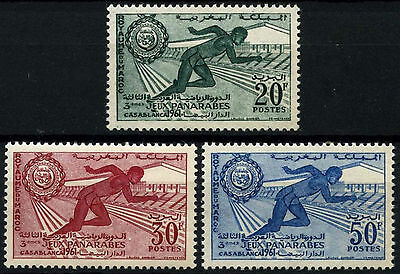 Morocco 1961 SG#92-4 Pan Arab Games MNH Set #D49374