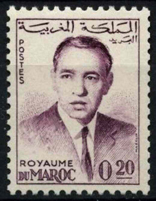 Morocco 1962 SG#116, 20f King Hassan II Definitive MNH #D49375