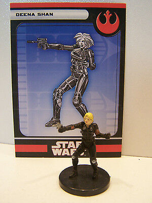 Star Wars Miniatures Legacy of the Force 2008 Deena Shan 12/60
