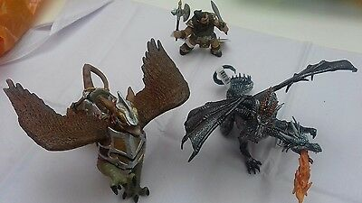 PAPO Fantasy World Two Headed Dragon Silver Action Figure. Job lot