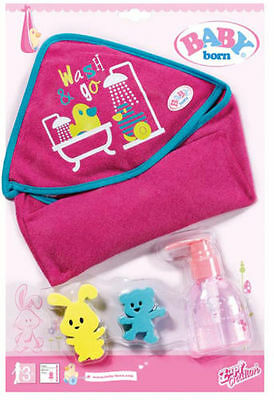 Zapf Creation Baby Born Bathing Accessory Set Official New