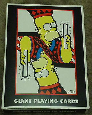 The Simpsons Giant Playing Cards - Novelty Poker Cards - RARE 2006 - New in Box