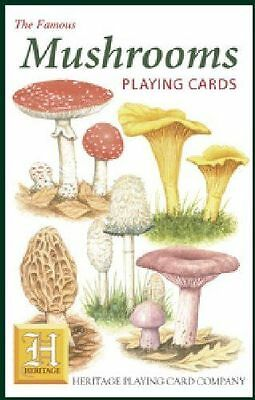 Heritage Playing Cards - MUSHROOMS - NEW!  Very educational