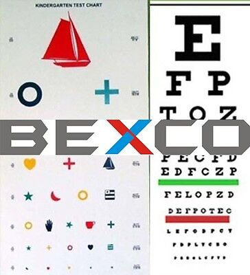 5pc Snellen Kindergarten Children Eye Test Chart By Top Brand BEXCO DHL Shipping