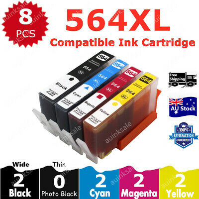 8x HP 564XL Ink Cartridges For HP Photosmart 3520 4620 3070 5510 5520 6510 6520