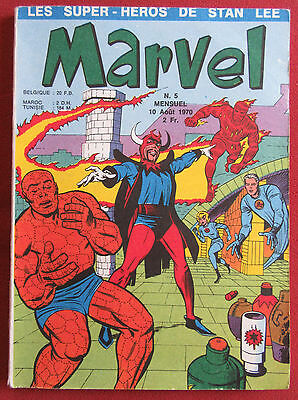 Marvel Bd Comics Eo N°5 Aout 1970 Lug  Stan Lee  Ttbe+