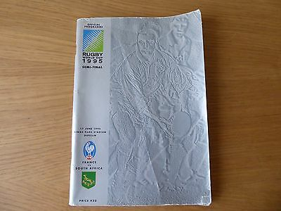 1995 Rugby World Cup semi-final programme South Africa v France