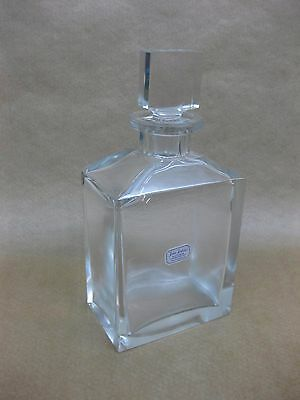 Vintage Contemporary Whisky Decanter ~ Stylish Glass ~ Whiskey / Port / Wine