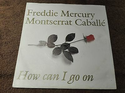 "QUEEN FREDDIE MERCURY & MONTSERRAT CABALLE How Can I Go On 7"" 1988  GERMANY"