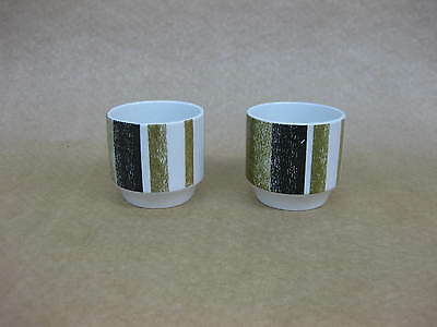 Pair of Vintage Midwinter Queensberry Stripe Egg Cups