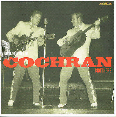 "EDDIE COCHRAN - LATCH ON WITH THE COCHRAN BROTHERS - New 10"" VINYL LP rockabilly"