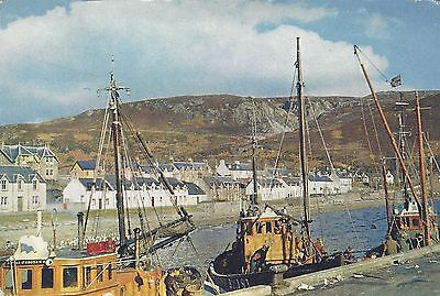 Pier,fishing boats ,Ullapool, Ross-shire, Scottish Highlands, Scotland 1965