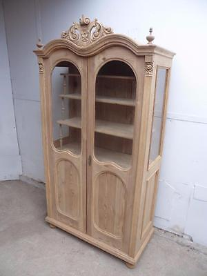 An Amazing Early Victorian Antique Pine Display Cabinet/Dresser to Wax/Paint