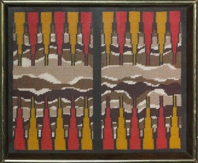 """Fab, Custom Needlepoint Framed Backgammon Board"""