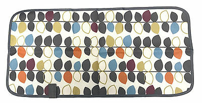 Grey Leaves Design Laminated Waterproof Foldable Baby Changing Mat