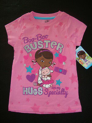 "DISNEY DOC McSTUFFINS  short  sleeved tee shirt  NWTS "" BOO-BOO BUSTER !!! """