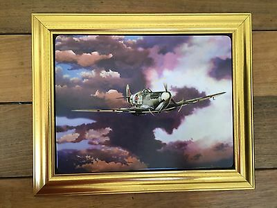 Spitfire Framed Limited Edition Picture 60th Anniversary The Battle Of Britain