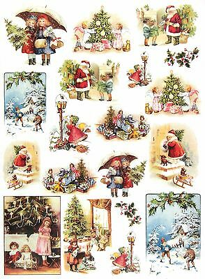 Rice Paper for Decoupage Decopatch Scrapbook Craft Sheet Vintage Christmas Time