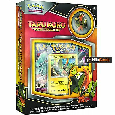 Pokemon Tapu Koko Pin Collection Box: Inc Booster Packs, Promo Card + Pin Badge
