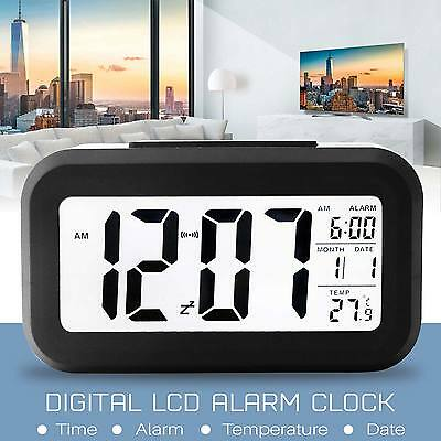 Digital LCD Alarm Clock Snooze with LCD Display Backlight Calendar Snooze UK
