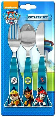 Spearmark 3 Piece Paw Patrol Triangle Cutlery Set