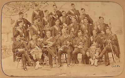 79Th The Queen`s Own Cameron Highlanders in Gibraltar - Albumin 1881