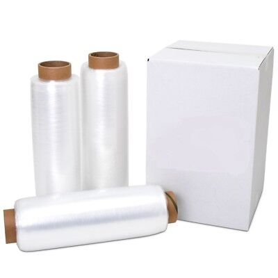 "12"" x 1500' 80 Gauge 4 Rolls Pallet Wrap Stretch Film Hand Shrink Wrap 1500FT"