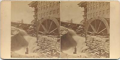 Worcester, MA , Cherry Valley, MA, real photo dated 1876, stereoview, flood