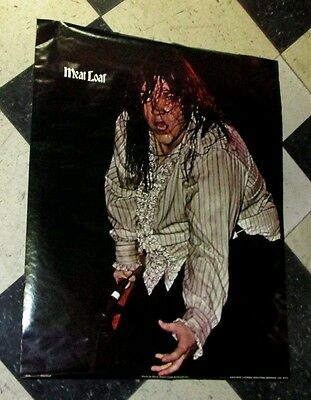 """MEAT LOAF 1970'S RARE IN CONCERT Poster 22"""" X 28""""  MARATHON GRAPHICS  #2028"""