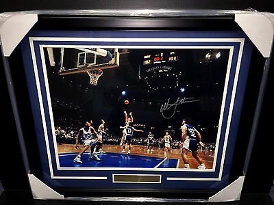 Christian Laettner Game Winning The Shot Autographed Framed 16X20 Photo Jsa Coa