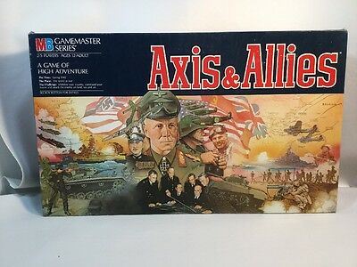 Axis and Allies Milton Bradley 1984 EDITION MB GAMEMASTER SERIES Board Game