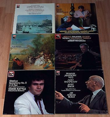 Job Lot Classical Vinyl LPs EMI ASD Label Inc Brahms Tchaikovsky Sibelius
