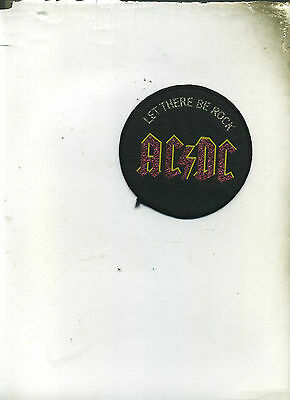 Ac/dc Let There Be Rock  Rare Round Unused Vintage Patch