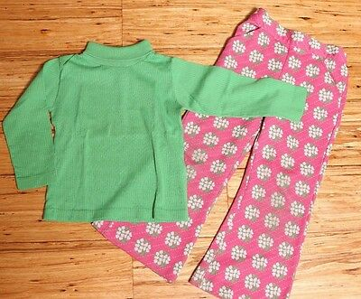 EUC Vintage Health-tex School Outfit Made in USA Permanent Press Size 5 Flowers