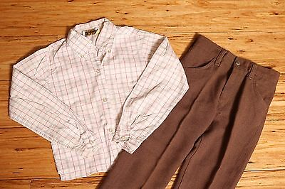 EUC Vintage 2pc Boys School Outfit Made in USA Permanent Press Size 5/6 Retro