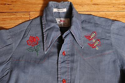 "Vintage Boys Shirt ""Bronco"" Authentic Western Shirt Brand Size 12"