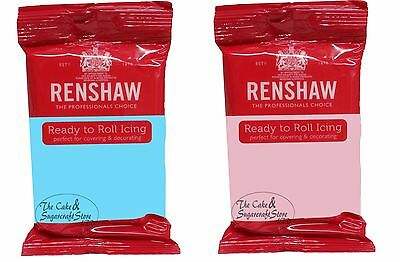 Baby Blue and Baby Pink Renshaw Ready to Roll Icing