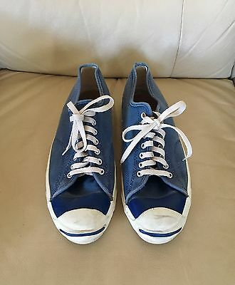 Made In Usa Vintage Converse Jack Purcell Navy Canvas Size 12-13 Us Men