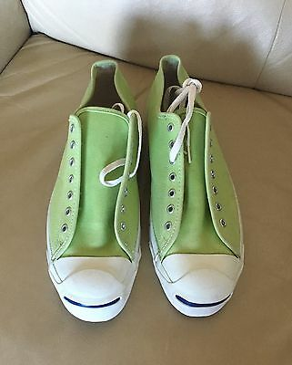 Made In Usa Vintage Converse Jack Purcell Lime Green Canvas Size 13 Us Men