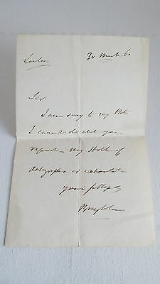 Handwritten Signed Letter by 1st Baron Henry Brougham (1778-1868)