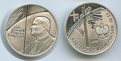 GS234 - Polen 10 Zlotych 1999 Y#360 Papst Johannes Paul II. PROOF Silber RAR