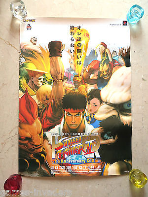 72x51 cm Hyper Street Fighter 2 Anniversary Edition Official Capcom Poster Japan
