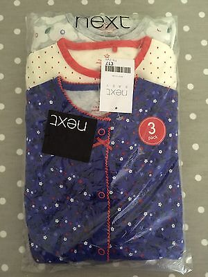 Set Of 3 Next Sleepsuits 18-24 Months NEW