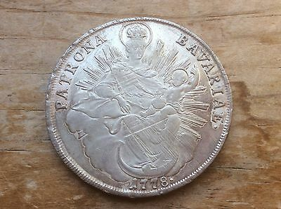 """1778 Bavarian silver thaler """" Madonna and child"""" reverse. @@ must see @@"""