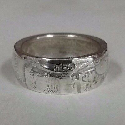 """1945"" Walking liberty Half Coin Ring Silver 90%  Size 11 sizes 8-14      #62"